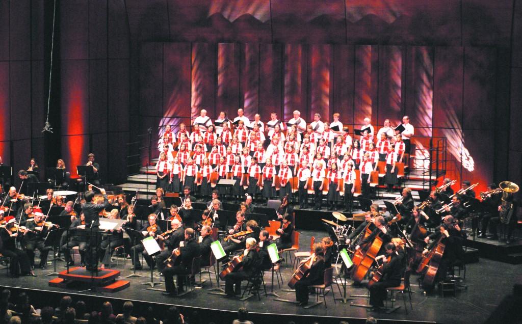 Les petits chanteurs avec l'OSQ, lors du concert de Noël de décembre 2008