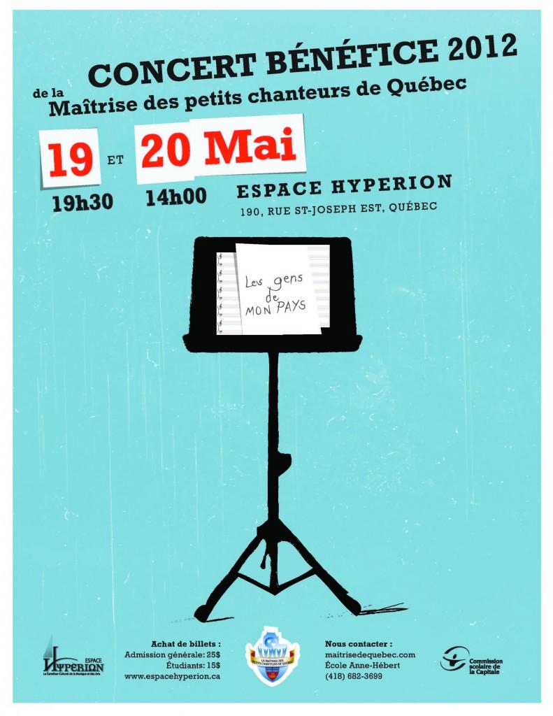 Affiche LETTRE concert bénéfice 2012